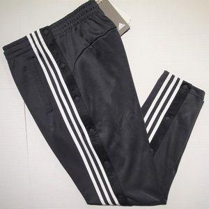 Adidas men's interlock snap off track pants